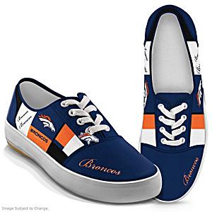 NFL-Licensed Denver Broncos Women's Patchwork Sneakers