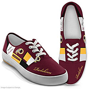 NFL-Licensed Washington Redskins Women's Patchwork Sneakers