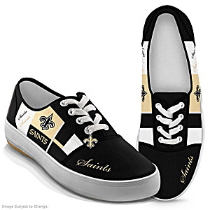 NFL-Licensed New Orleans Saints Women's Patchwork Sneakers