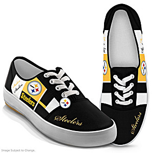 NFL-Licensed Pittsburgh Steelers Women's Patchwork Sneakers