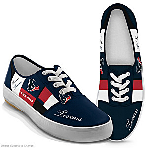 NFL-Licensed Houston Texans Women's Patchwork Sneakers