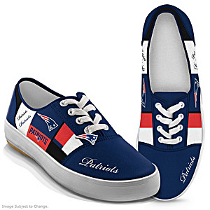 NFL-Licensed New England Patriots Women's Patchwork Sneakers