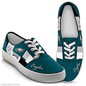 NFL-Licensed Philadelphia Eagles Women's Patchwork Sneakers