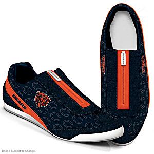NFL-Licensed Chicago Bears Women's Zipper Sneakers