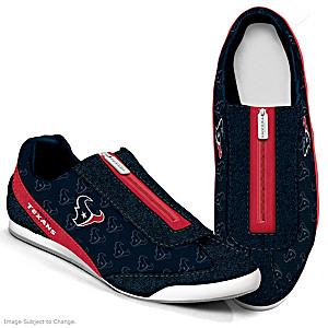 NFL-Licensed Houston Texans Women's Zipper Sneakers