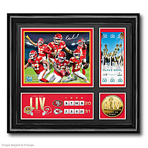 Kansas City Chiefs Super Bowl LIV Framed Commemorative