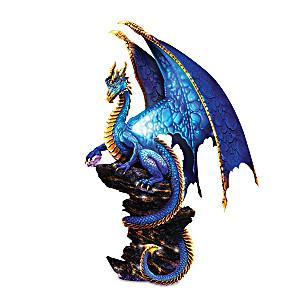 """""""Mystic Treasures"""" Illuminated Dragon Sculpture"""