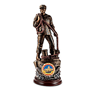 """""""Honor"""" U.S. Navy Sculpture With Challenge Coin"""