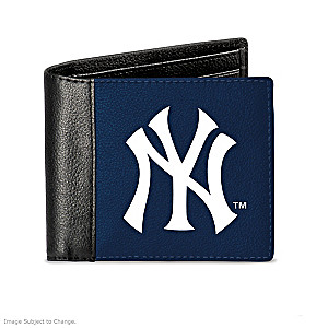 New York Yankees Men's RFID Blocking Leather Wallet