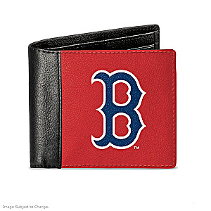 Boston Red Sox Men's RFID Blocking Leather Wallet