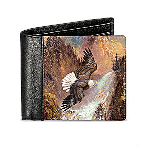 "Ted Blaylock ""Soaring Eagle"" RFID Blocking Leather Wallet"