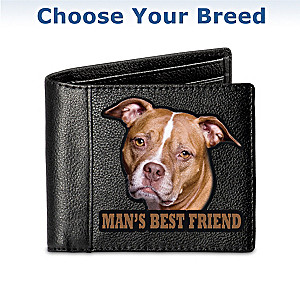Man's Best Friend Dog Art Leather Wallet: Choose Your Breed