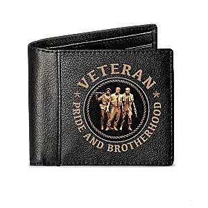 Leather Vietnam Veteran RFID Blocking Men's Wallet