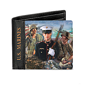 James Griffin U.S. Marines RFID Blocking Leather Wallet