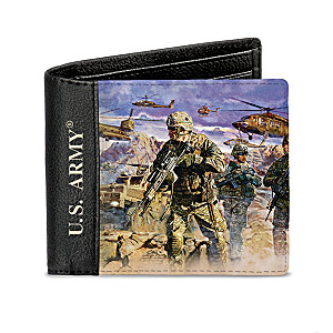 "James Dietz ""U.S. Army"" Men's RFID Blocking Leather Wallet"