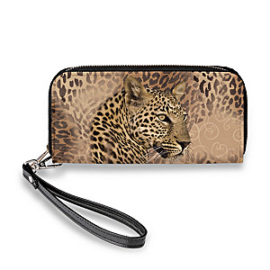 """In The Spot-light"" Leopard Print Women's Clutch Wallet"