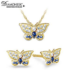 Royal-Inspired Butterfly Diamonesk Jewelry Set