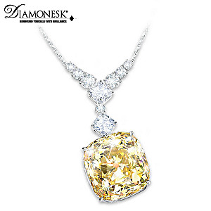 """""""Rising Star"""" Diamonesk Simulated Yellow Diamond Necklace"""