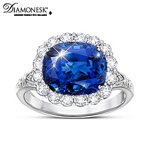 """""""Queen Victoria Royal Blue"""" Women's Created Sapphire Ring"""