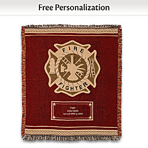 "Firefighter ""Hero's Tribute"" Personalized Throw Blanket"