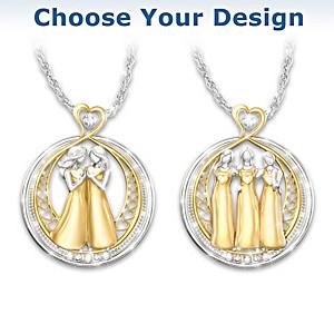 """Strength In Sisterhood"" Crystal Necklace: Choose A Design"