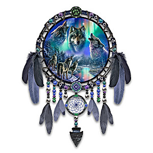 James Meger Wolf Art Wall Decor With Color-Changing Lights