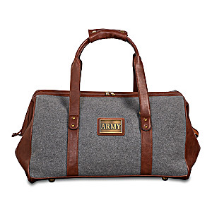 """Army Pride"" Widemouth Duffel With Bronze-Finish Plaque"