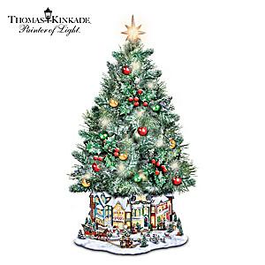 Thomas Kinkade Illuminated Musical Christmas Tree