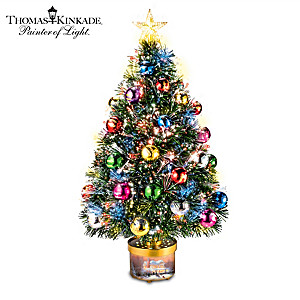 Thomas Kinkade Rotating Tree With Color-Changing Lights