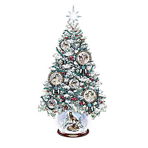 Al Agnew Lighted Snowglobe Tree With Dreamcatcher Ornaments