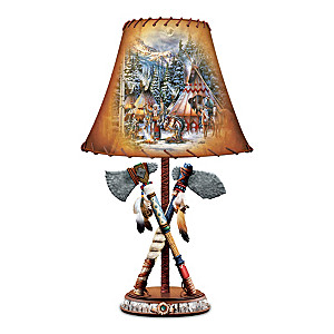 """""""Spirit Of Courage"""" Accent Lamp With Kirk Randle Art"""