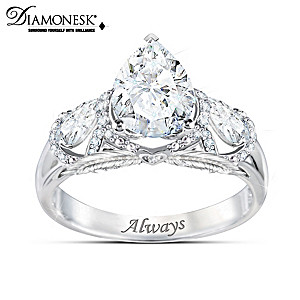 """""""Message From Heaven"""" Diamonesk Simulated Diamond Ring"""