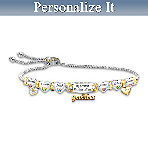 """""""My Greatest Blessings"""" Bracelet With 3-Way Personalization"""