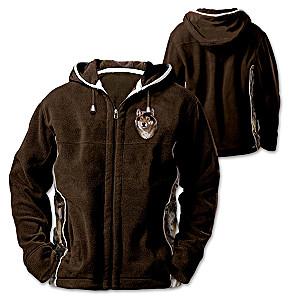 Al Agnew Wolf Art Men's Fleece Jacket