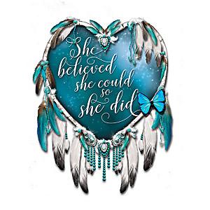 Carol Cavalaris Heart-Shaped Dreamcatcher Wall Decor