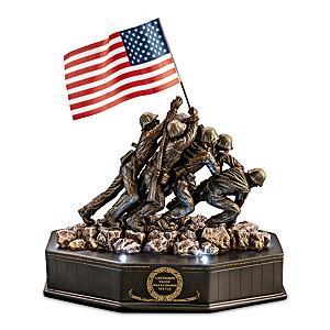 75th Anniversary Iwo Jima Cold-Cast Bronze Tribute Sculpture