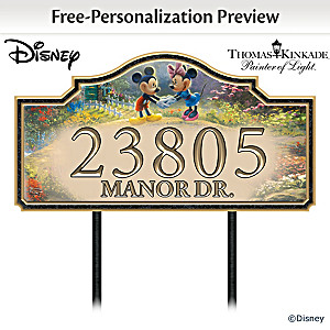 Disney Thomas Kinkade Personalized Outdoor Address Sign