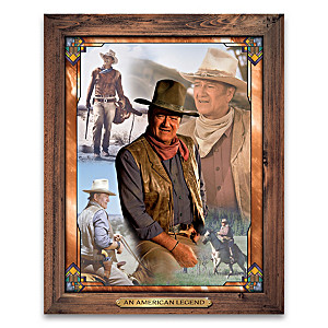 """The Legend Of John Wayne"" Self-Illuminating Wall Decor"