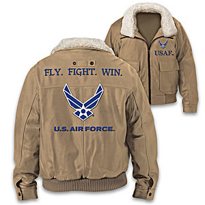 """""""U.S. Air Force Fly. Fight. Win."""" Men's Twill Bomber Jacket"""