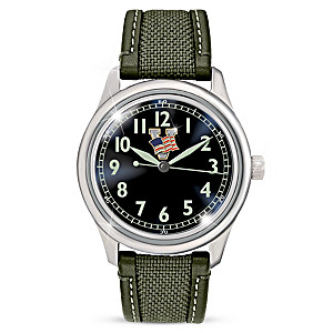 """WW2 Victory"" Men's Watch With Glow-In-The-Dark Dial"