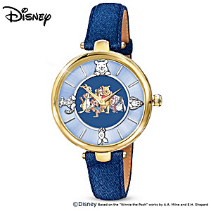 """Winnie The Pooh """"Time For Friends"""" Women's Rotating Watch"""