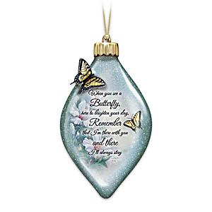 "Lena Liu ""Always Remember"" Illuminated Glass Ornament"