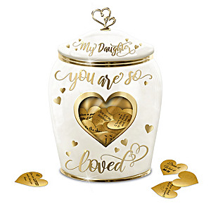 Musical Wish Jar With Heart-Shaped Notes For Daughter