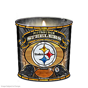 Pittsburgh Steelers Stained-Glass Candleholder