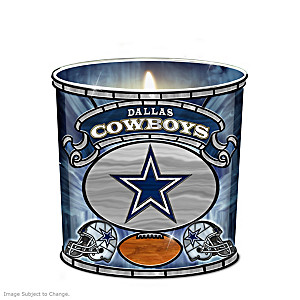 Dallas Cowboys Stained-Glass Candleholder