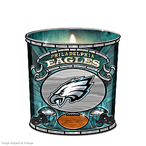 Philadelphia Eagles Stained-Glass Candleholder