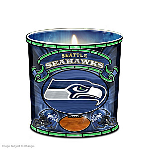 Seattle Seahawks Stained-Glass Candleholder