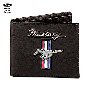 Ford Mustang RFID Blocking Leather Embossed Wallet
