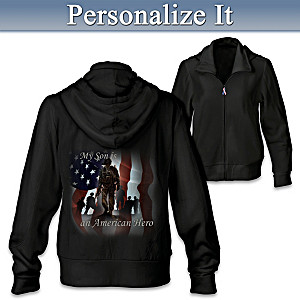 Women's Military Hoodie Personalized With Embroidered Phrase