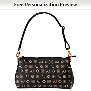 Personalized Handbag With Your Initials In Designer Pattern